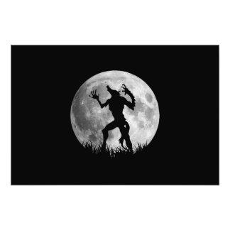 Transformação legal da Lua cheia do homem-lobo Impressão De Fotos