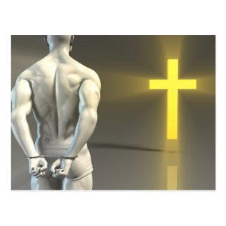 Transformação religiosa à cristandade cartão postal