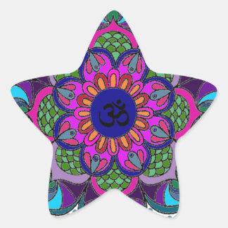 Transp das letras grandes da mandala da cor adesito estrela