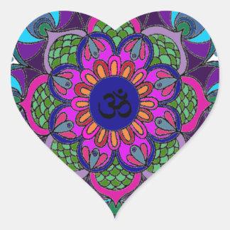 Transp das letras grandes da mandala da cor adesivo coração