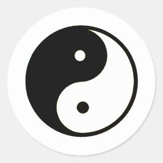 Transp de Yin Yang os presentes de Zazzle do MUSEU Adesivo