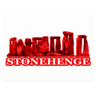 Transp vermelho de Stonehenge os presentes de Cartao Postal