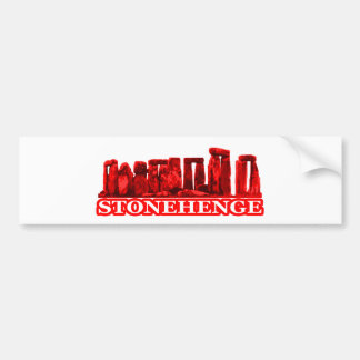 Transp vermelho de Stonehenge os presentes de Zazz Adesivo Para Carro