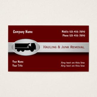 Transportando cartões de visitas da remoção da