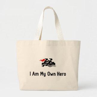 Transportando o herói sacola tote jumbo