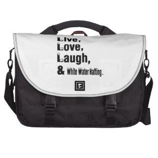 Transportar do riso vivo do amor e da água branca pastas para laptop