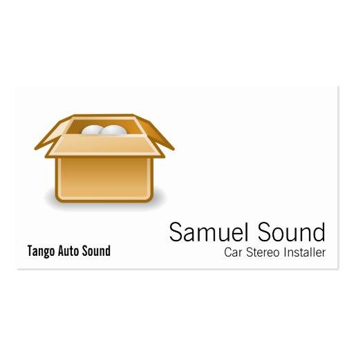 Transporte da embalagem da caixa modelo cartões de visitas