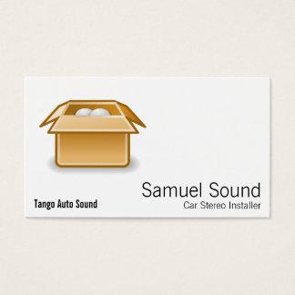 Transporte da embalagem da caixa cartão de visitas