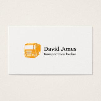 Transporte e cartão de visita do logotipo da