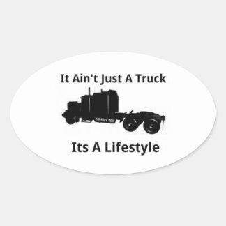 Transporte por caminhão adesivo oval