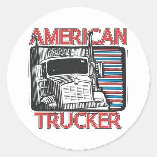 Transporte por caminhão americano adesivo