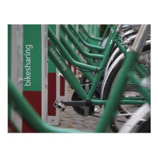 Transporte verde da cidade cartão postal