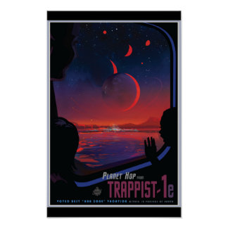 TRAPPIST-1e Exoplanet Pôster