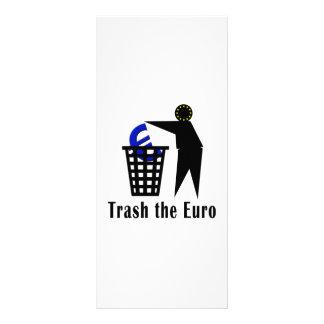 Trash o euro 10.16 x 22.86cm panfleto