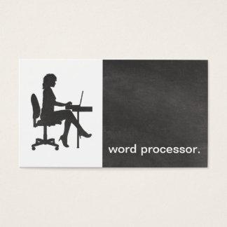 Tratamento de textos legal da silhueta moderna do cartão de visitas