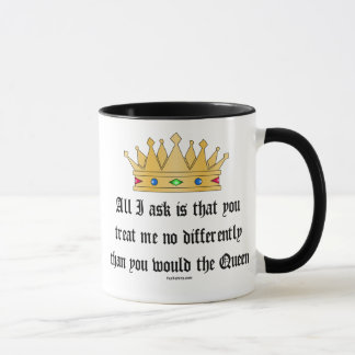 Trate-me como a caneca da rainha