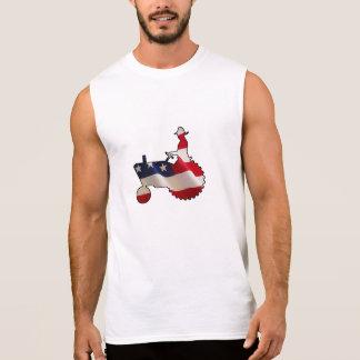 Trator americano orgulhoso da bandeira dos EUA do Camisa Sem Manga