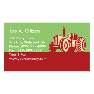 Trator de fazenda do vintage cartão de visita