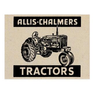 Trator de fazenda do vintage cartão postal