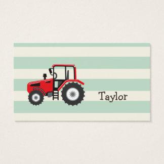 Trator de fazenda vermelho cartão de visitas