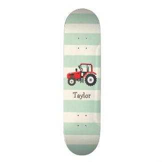 Trator de fazenda vermelho shape de skate 19,7cm