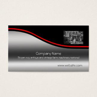 Trator de Fordson do vintage, swoosh vermelho, Cartão De Visitas