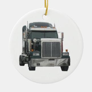 Trator do caminhão ornamento para arvore de natal