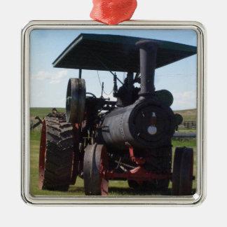 Trator do vapor da pradaria ornamento de metal