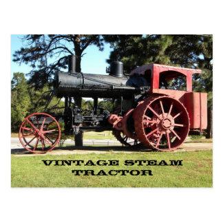 Trator do vapor do vintage - na cor cartao postal