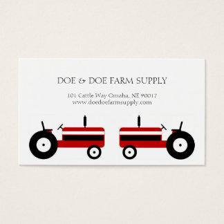 Trator do vermelho da agricultura da fonte da cartão de visitas