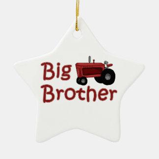 Trator do vermelho do big brother ornamento de cerâmica estrela