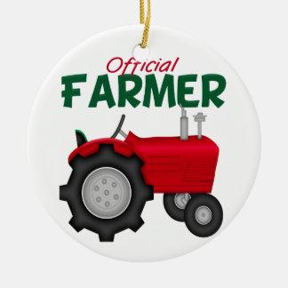 Trator do vermelho do fazendeiro enfeite de natal