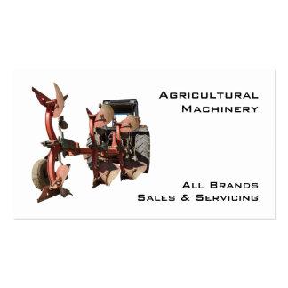 Trator e arado da maquinaria agrícola cartão de visita