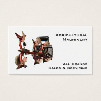Trator e arado da maquinaria agrícola cartão de visitas