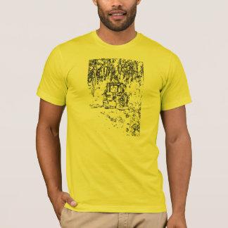 trator e natureza do desenho camiseta