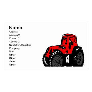 Trator vermelho cartão de visita