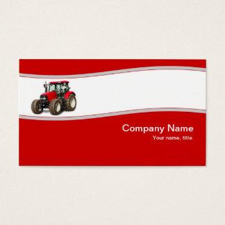 Trator vermelho - cartão de visita da fonte da