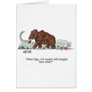 Trave o cartão de aniversário do cachorrinho do