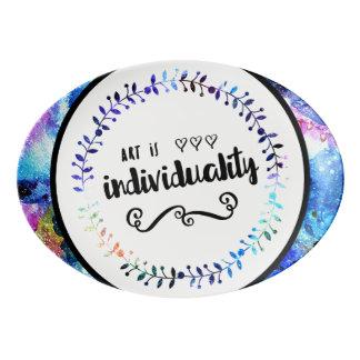 Travessa De Porcelana A arte é individualidade