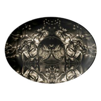 Travessa De Porcelana Arte de gravação da borboleta cósmica