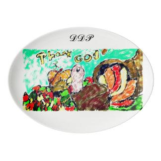 Travessa De Porcelana Arte dois de Turquia