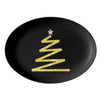 Travessa De Porcelana Árvore de Natal do brilho