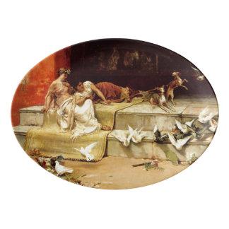 Travessa De Porcelana As donzelas romanas por Juan Luna.