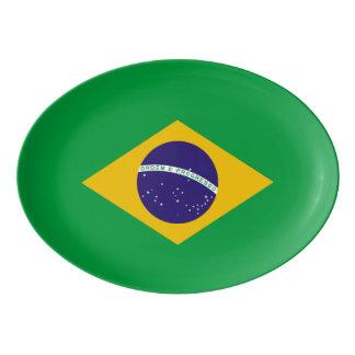 Travessa De Porcelana Bandeira de Brasil