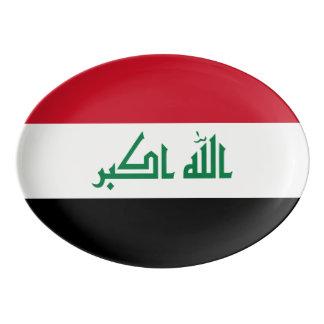 Travessa De Porcelana Bandeira de Iraque