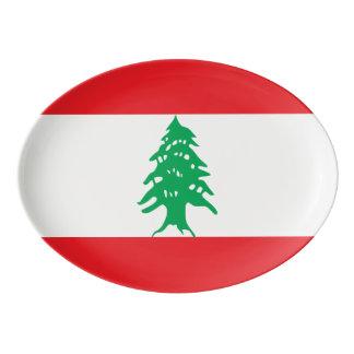 Travessa De Porcelana Bandeira de Líbano