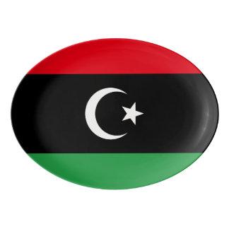 Travessa De Porcelana Bandeira de Líbia