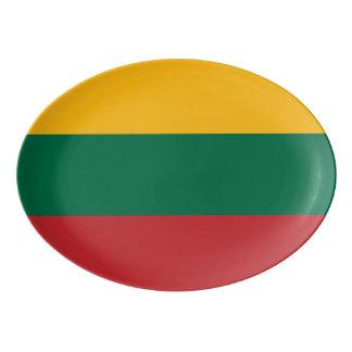Travessa De Porcelana Bandeira de Lithuania