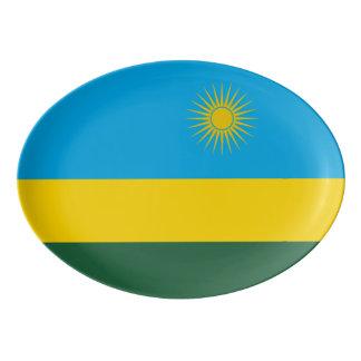 Travessa De Porcelana Bandeira de Rwanda