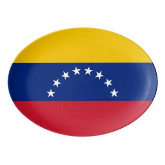 Travessa De Porcelana Bandeira de Venezuela